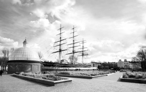 View of the Cutty Sark - Black and White