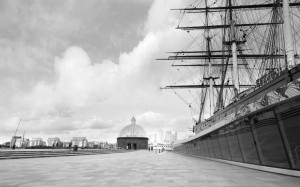 Cutty Sark from the side - Black and White